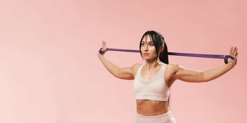 Large loop bands are the most common options in gyms and stores as they're affordable.