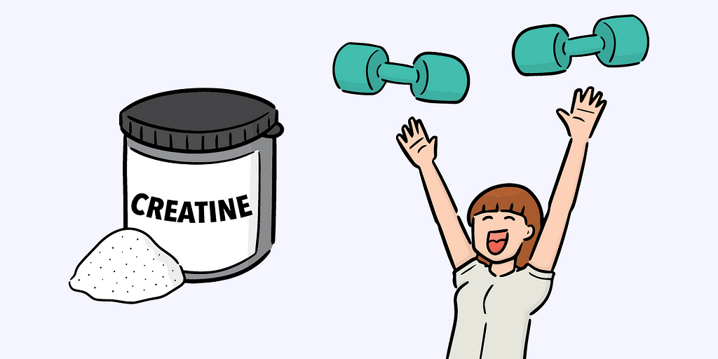 Creatine improves your performance by giving you more energy during your workouts.