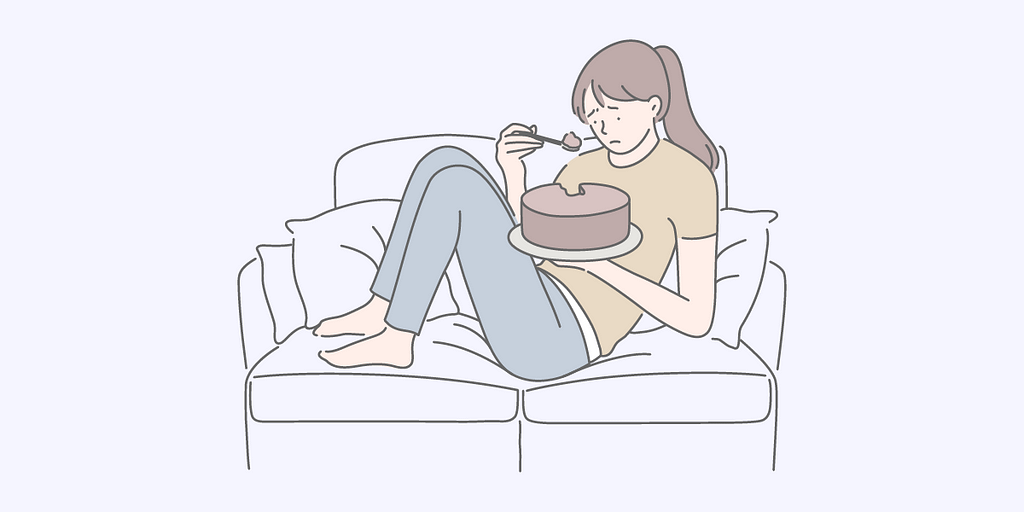 Emotional eating to cope with stressful periods could lead to a disordered relationship with food.