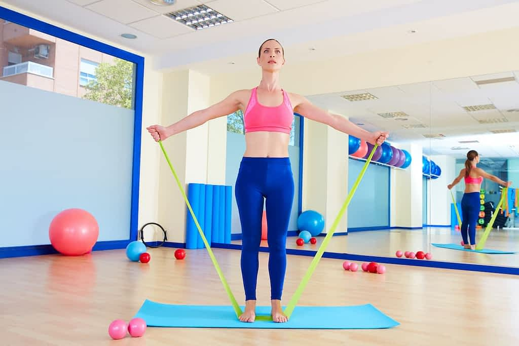 Pilates bands are much thinner than other types of bands, but are equally useful.